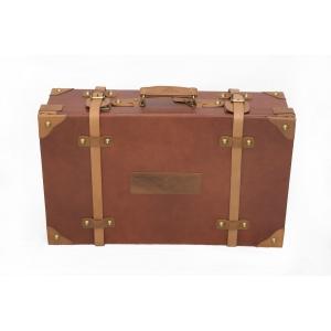 Velký kožený zavazadlový kufr